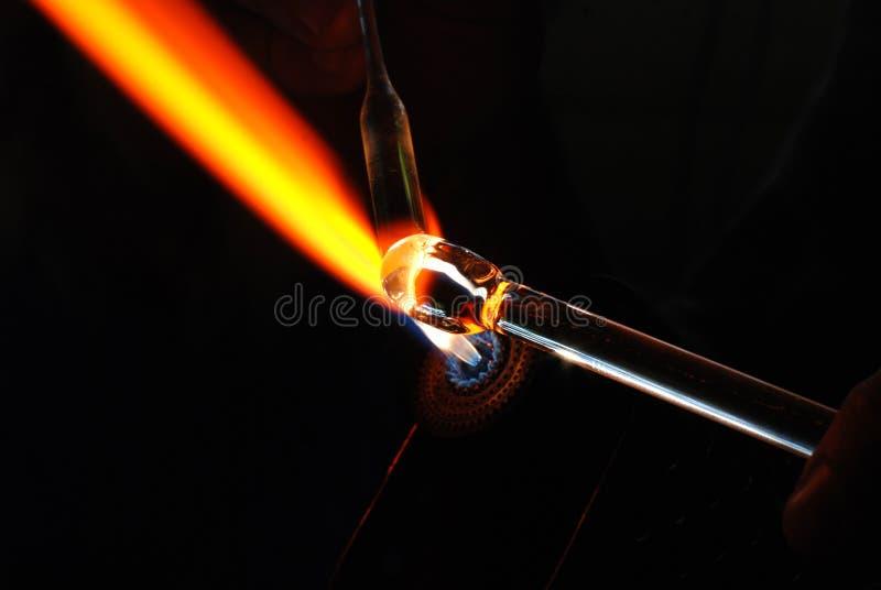 Glass-blower stock image