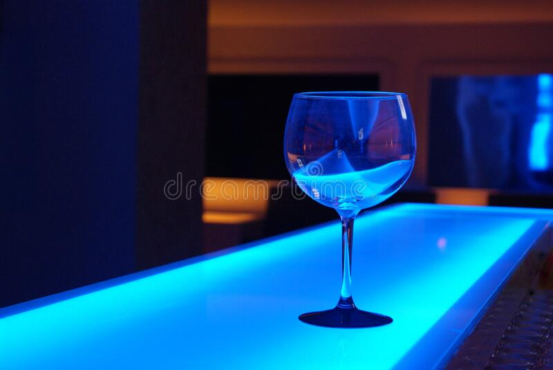 Glass On Blue Counter Free Public Domain Cc0 Image