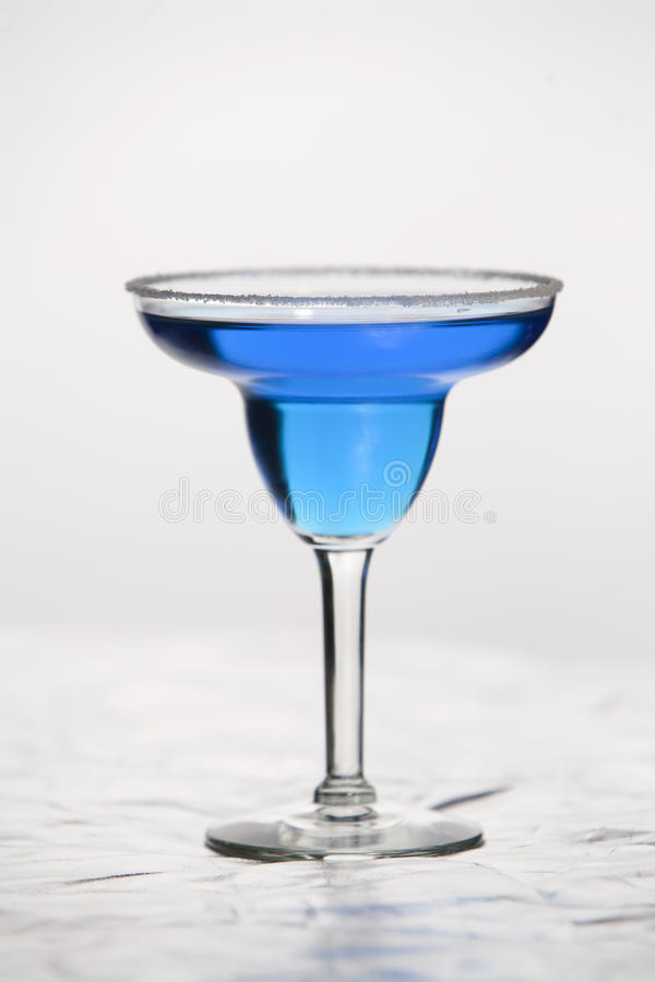 Glass of blue wine royalty free stock photos