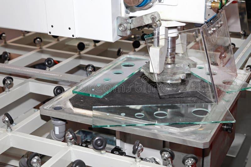 Glass borrandemaskin fotografering för bildbyråer