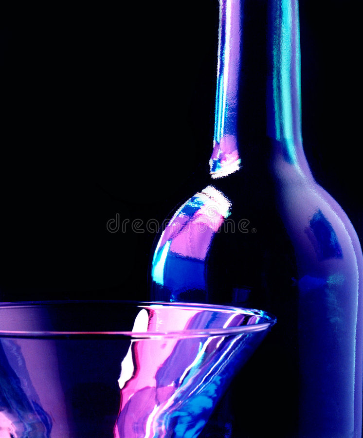 Glass and bottle stock photo