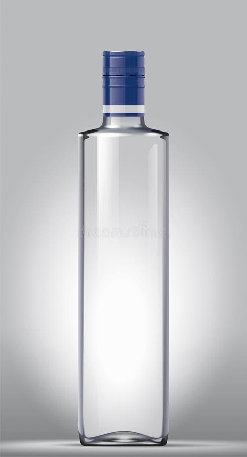 Glass bottle vector illustration