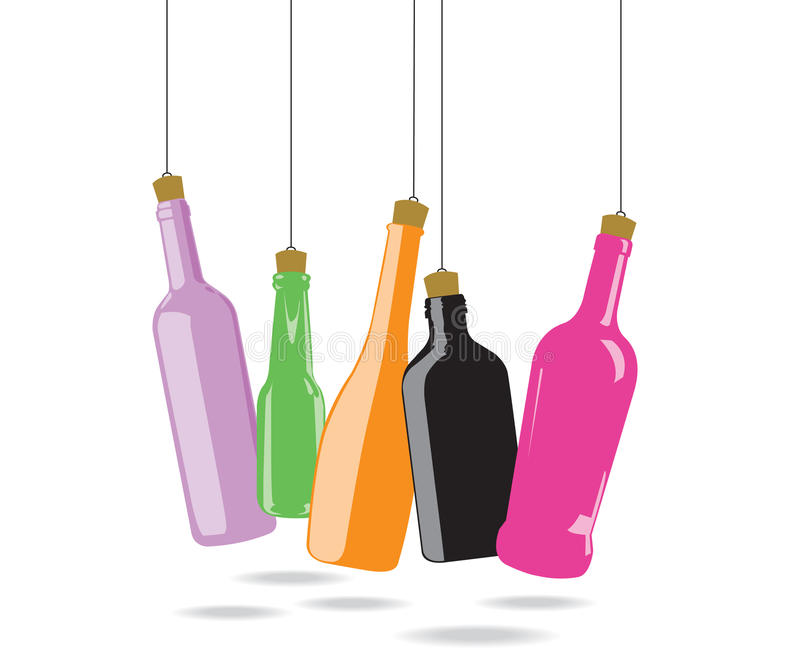Download Glass bottle stock vector. Illustration of drop, painting - 20840512