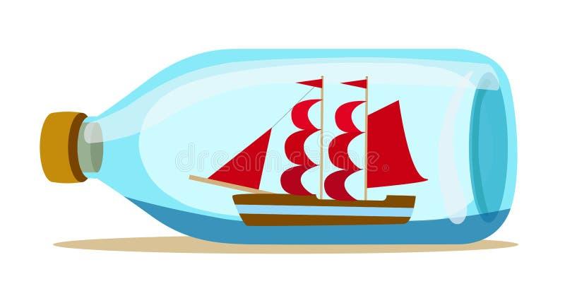Glass bottle stock illustration