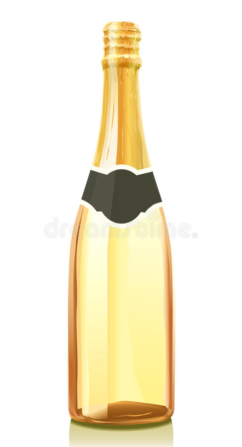 Download Glass Bottle With Champagne Wine Stock Vector - Image: 10692652