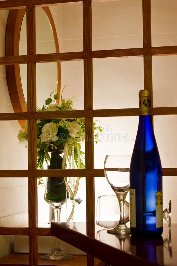 Download Glass bottle flowers taste stock photo. Image of pour - 19080826