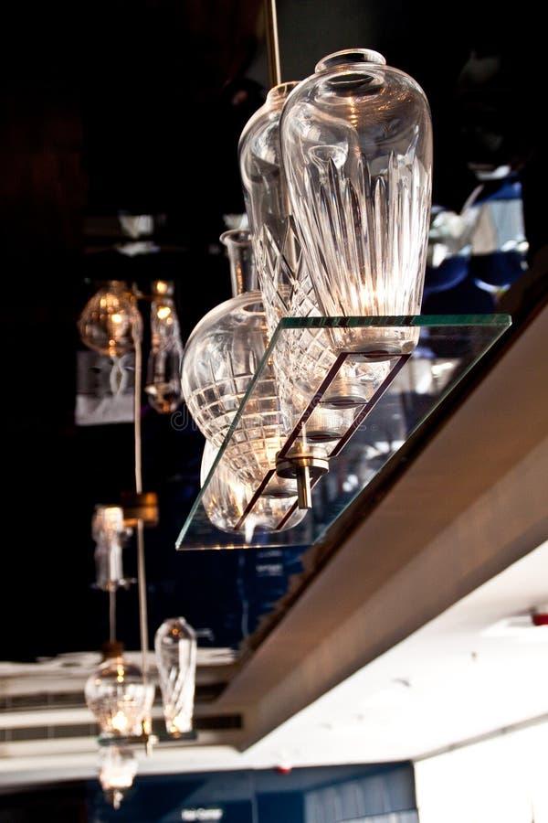 Glass Bottle Lamp stock image