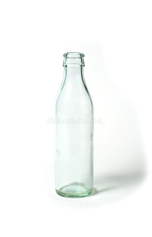 Glass bottle- Recycle bin stock photo