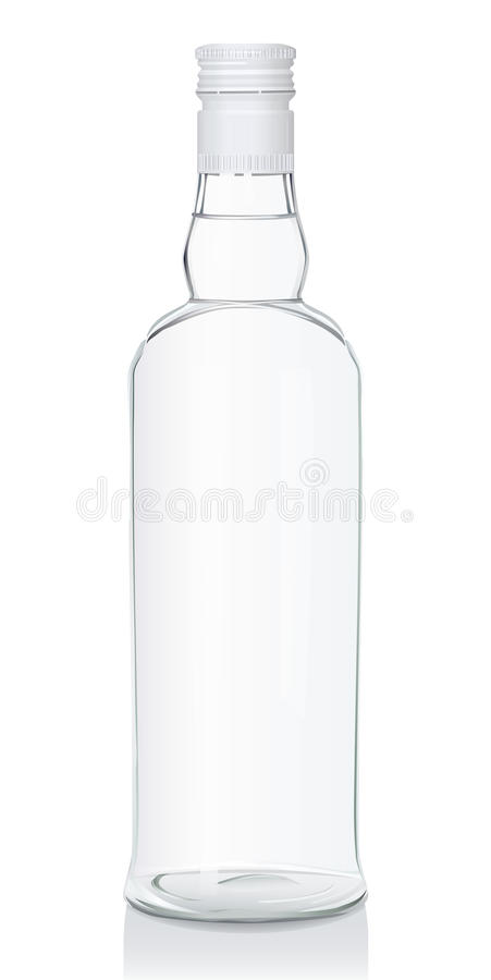 Download Glass Bottle With Russian Vodka Stock Vector - Illustration of bright, alcohol: 10700679