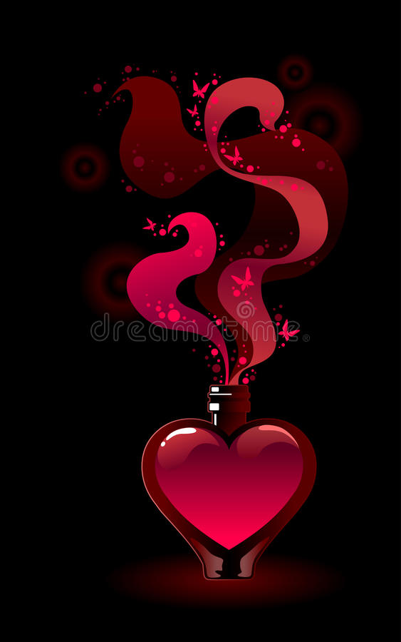 Free Glass Bottle With Love Potion Stock Photos - 37476173