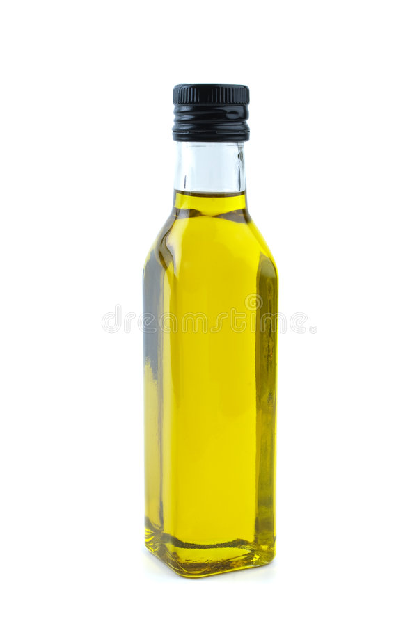 Free Glass Bottle With Olive Oil Stock Photography - 8401012
