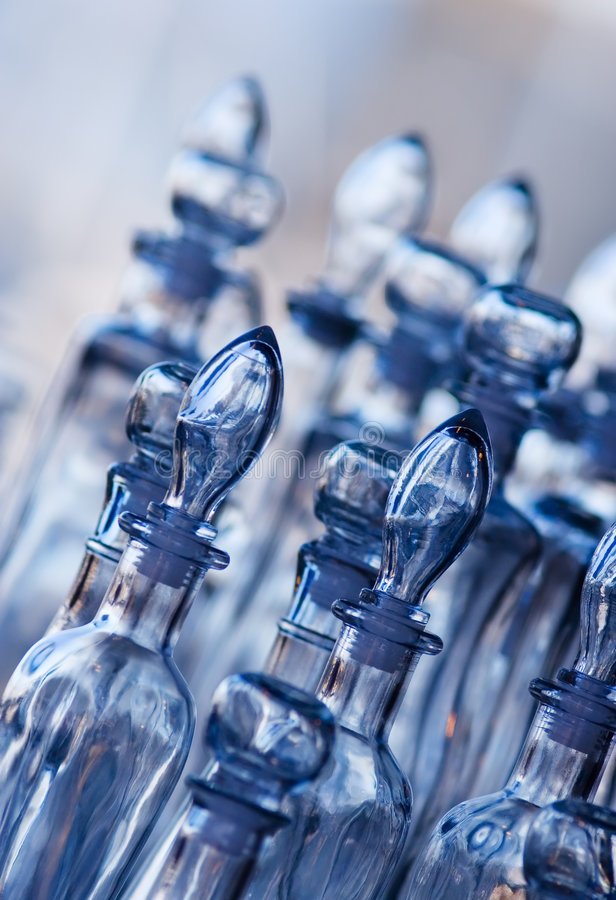 Glass bottles royalty free stock photo