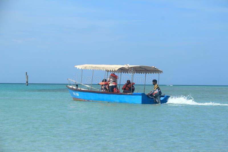 Glass Bottom Boat Andaman Sea. stock photos