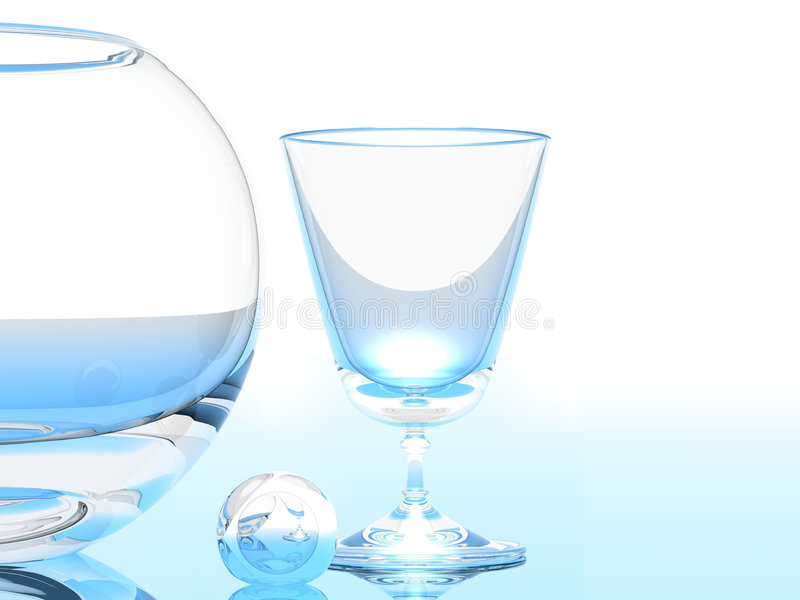Glass and Bowl royalty free stock photos