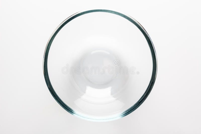 Glass bowl directly from above royalty free stock photo