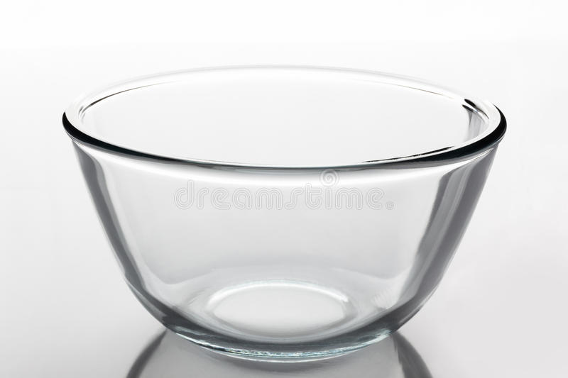 Glass bowl from side royalty free stock photo