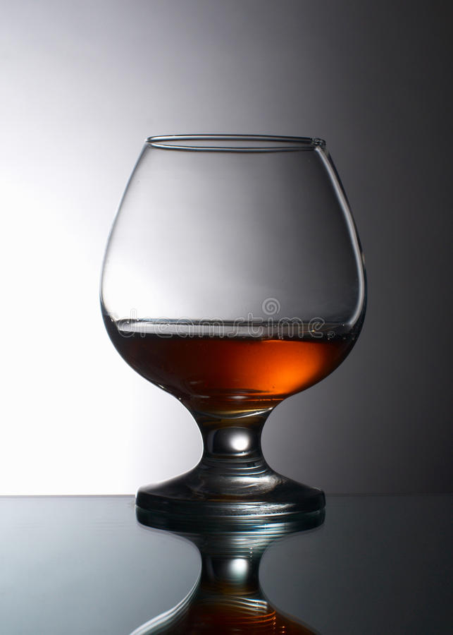 Glass of brandy royalty free stock photos