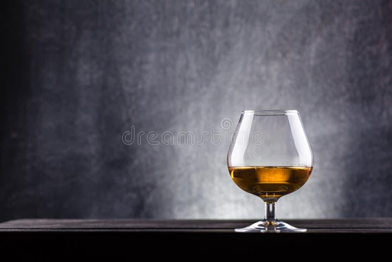 Glass of brandy stock photography