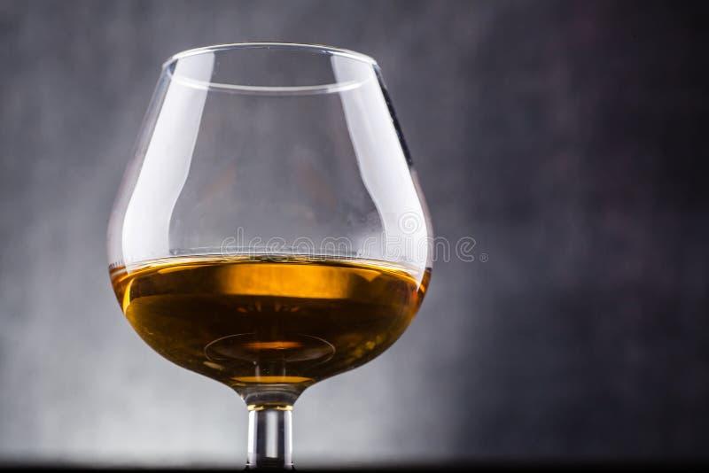 Glass of brandy stock photos