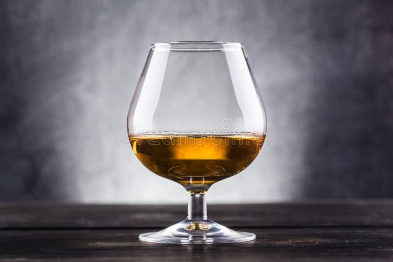 Glass of brandy stock image