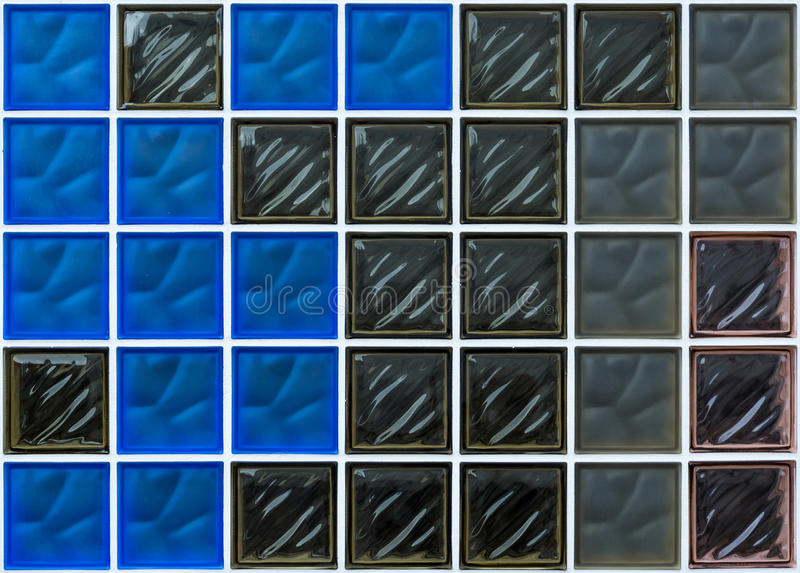Glass brick background, wallpaper, texture royalty free stock photos