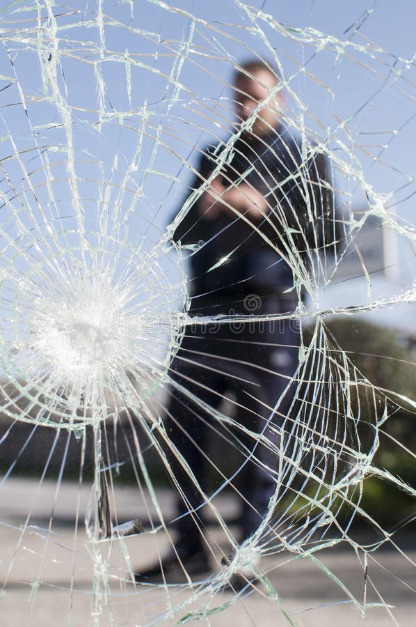 Glass broken stock photo