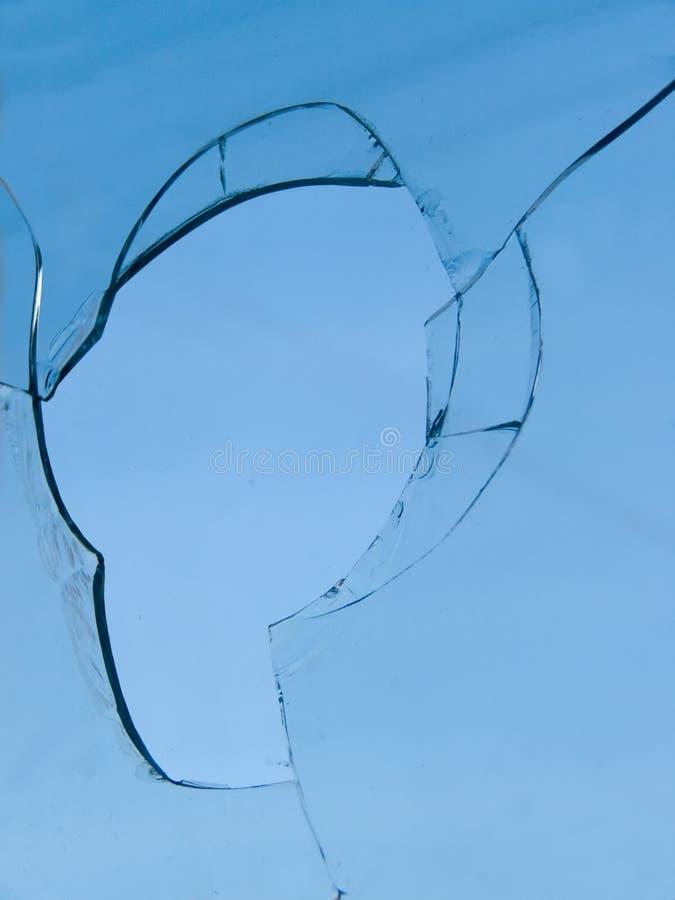 Glass broken sky stock photo