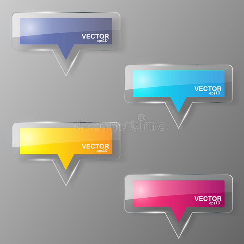 Glass bubble speech set. Vector illustration. vector illustration