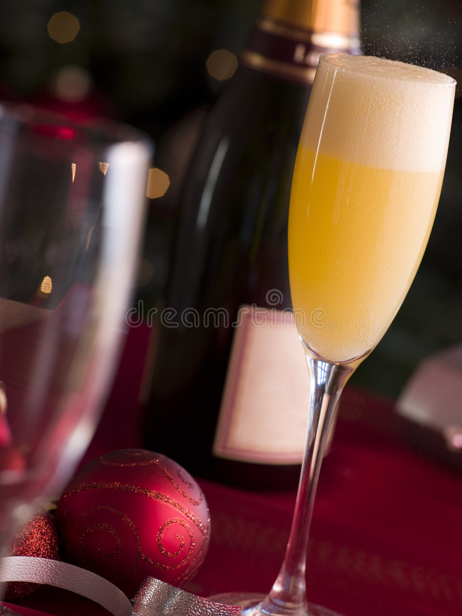 Download Glass of Bucks Fizz stock photo. Image of foods, decoration - 5604428