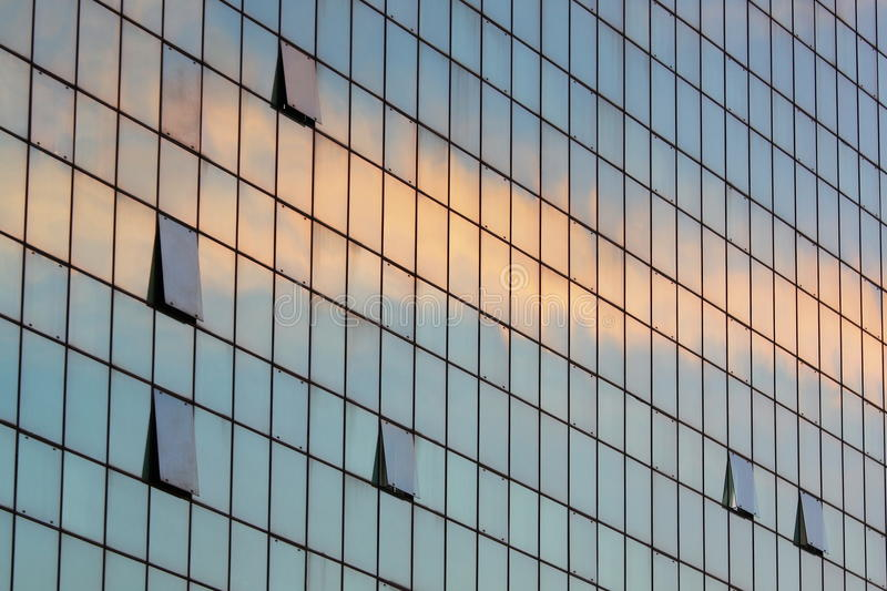 Glass building detail royalty free stock photo