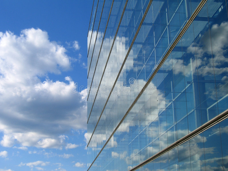 Glass Building reflection royalty free stock image