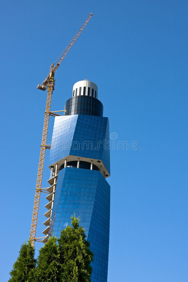 Glass Building In Sarajevo Stock Photo
