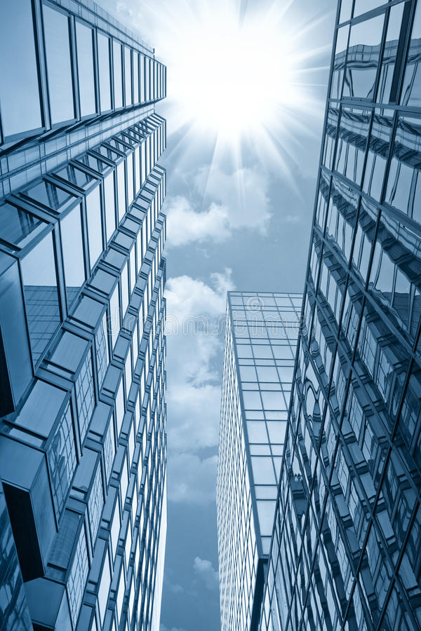 Glass building under the sun royalty free stock photography