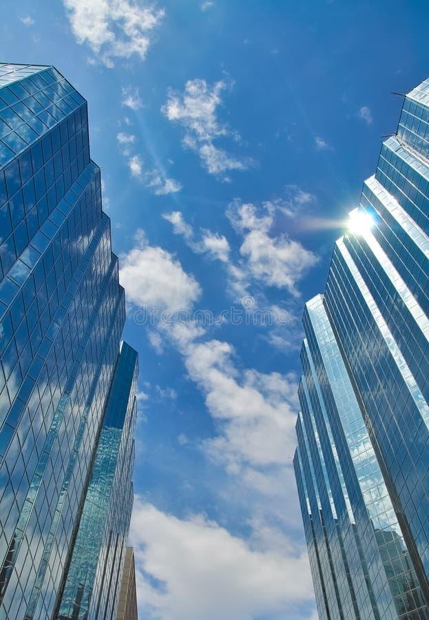 Glass buildings stock photos
