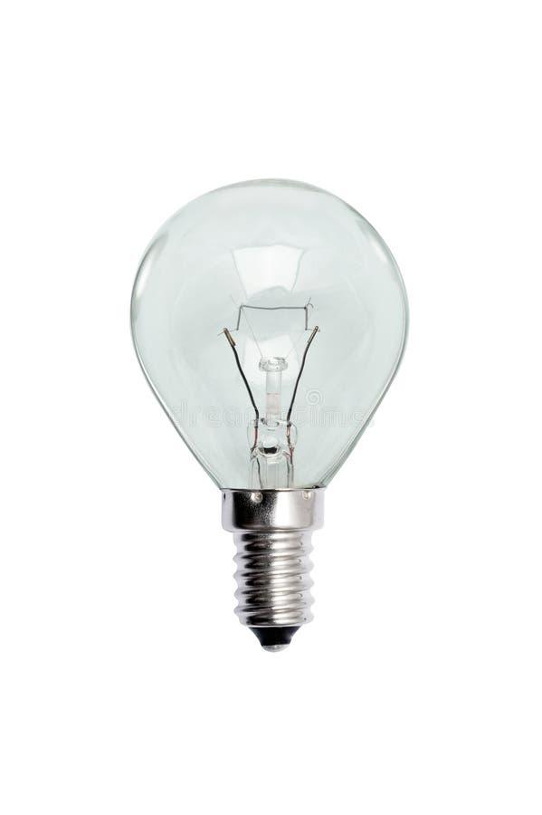 Glass bulb. Isolated image. stock image