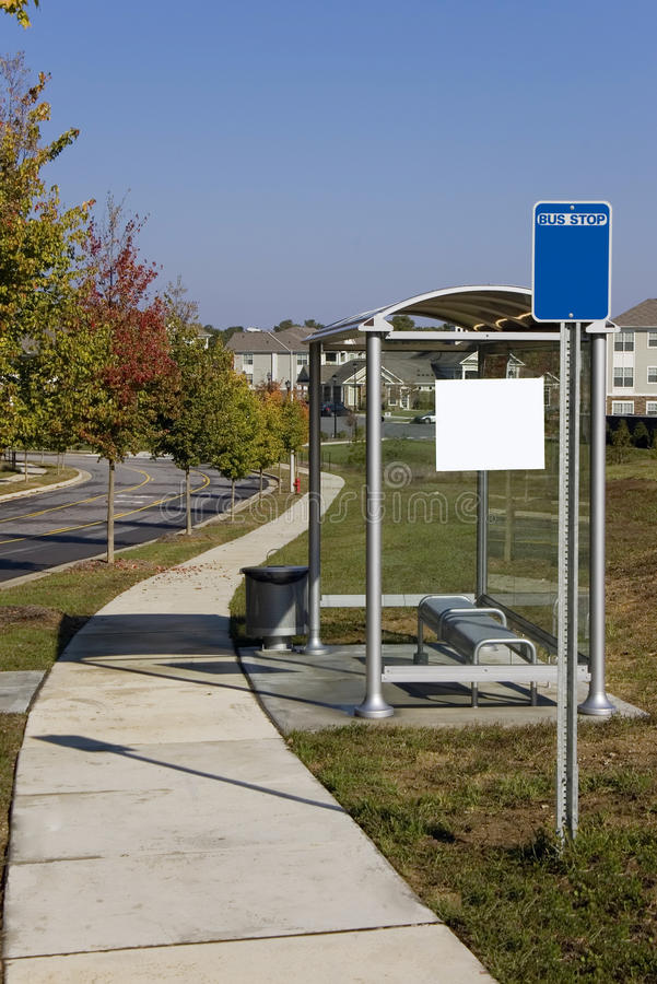 Download Glass Bus Stop In Suburban Area Royalty Free Stock Photography - Image: 16879897