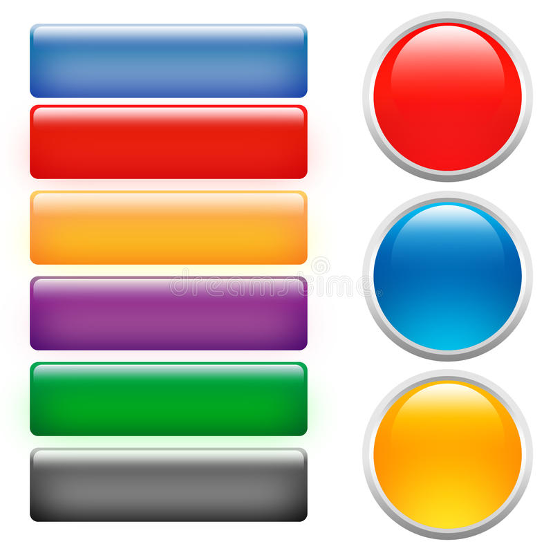 Glass buttons vector illustration