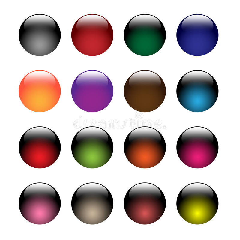 Glass Buttons Royalty Free Stock Photos