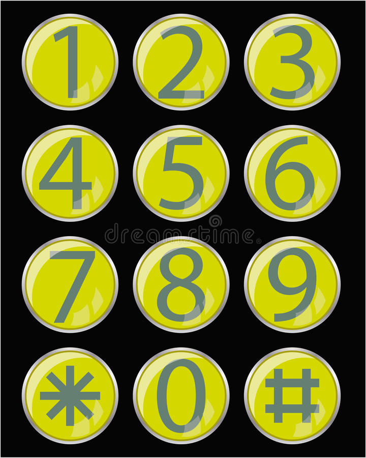 Glass buttons royalty free illustration