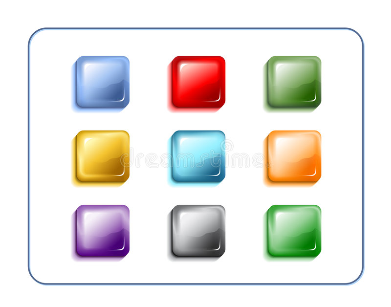 Glass Buttons With Clipping Paths
