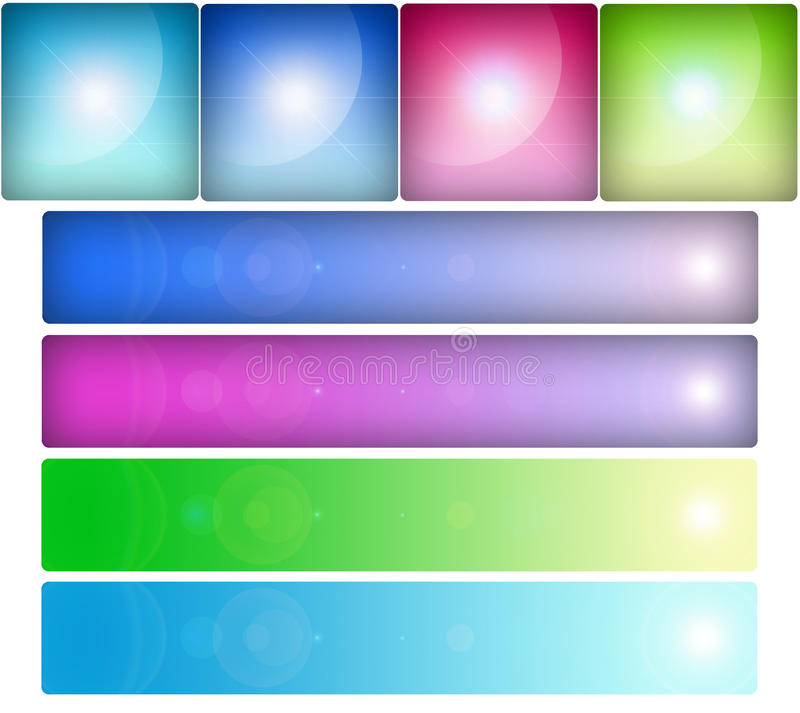 Glass buttons set stock photography
