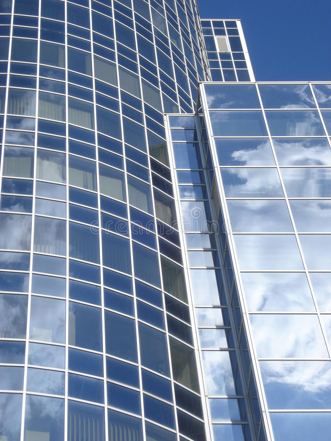 Glass byggnadsfasaddetaljer arkivfoton