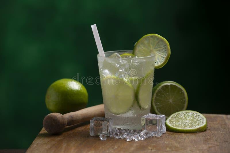 Glass of caipirinha stock images