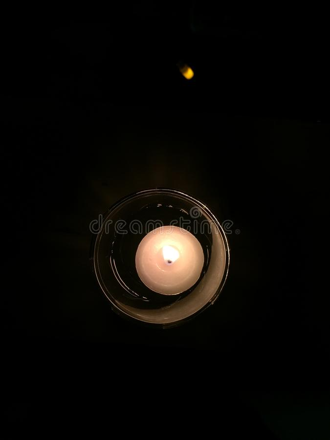 Glass Candle stock photos
