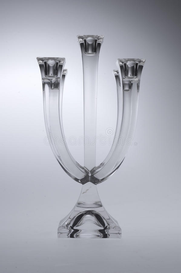 Glass Candle Holder. On a light background stock photography