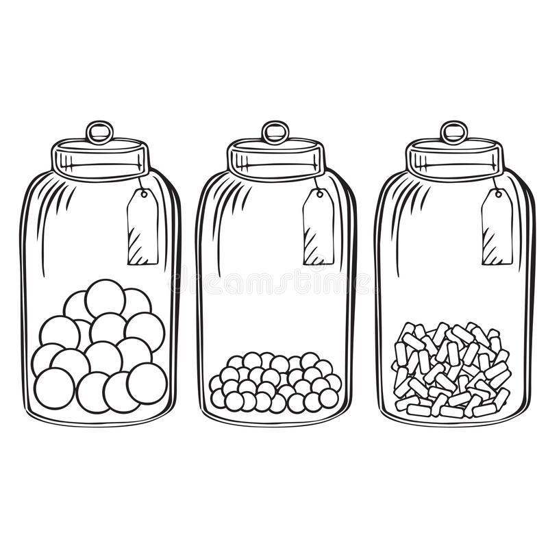 Free Glass Candy Jar Stock Image - 63459491
