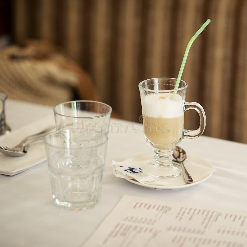 Glass of cappuccino