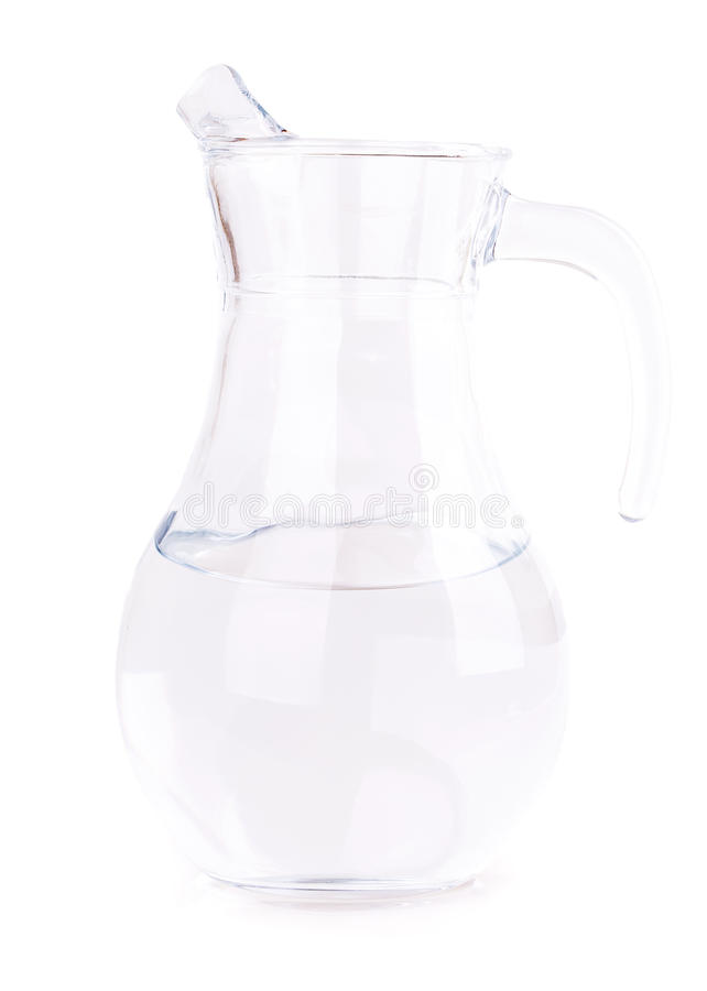 Glass carafe. Isolated on white background royalty free stock photo