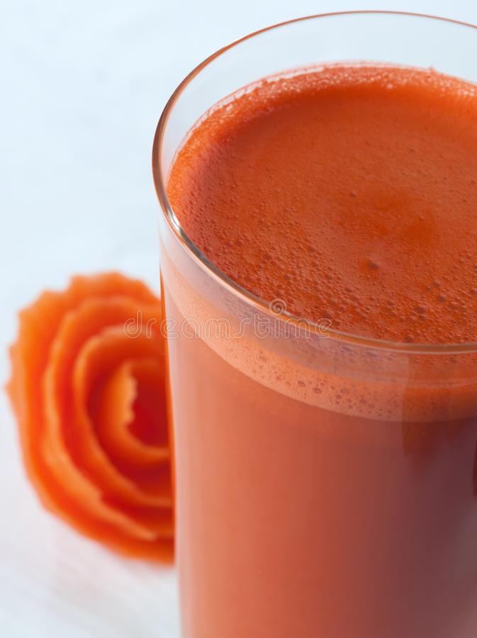 A glass of carrot Juice close up stock images