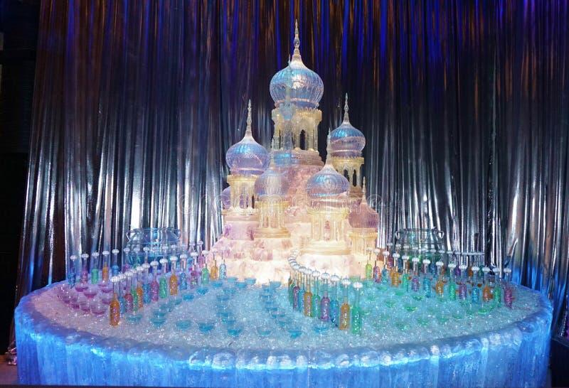 Glass Castle Sculpture stock images